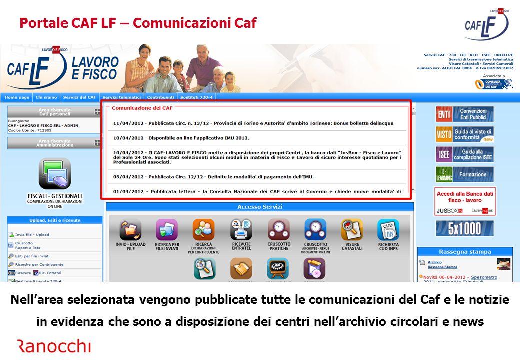 Portale CAF LF – Comunicazioni Caf