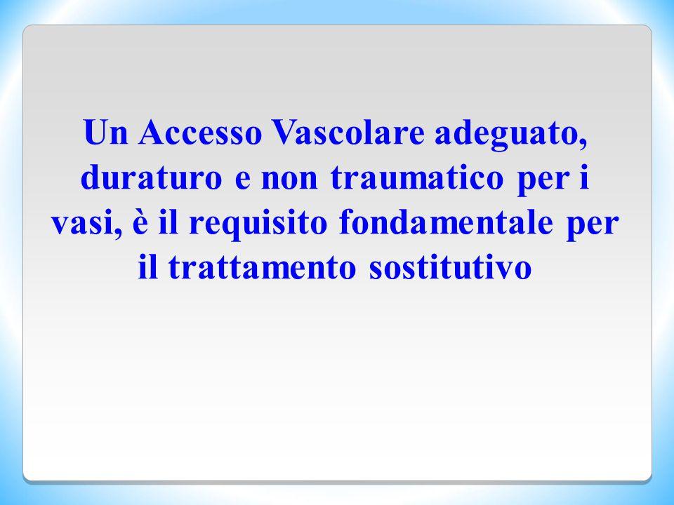 Un Accesso Vascolare adeguato, duraturo e non traumatico per i vasi, è il requisito fondamentale per il trattamento sostitutivo