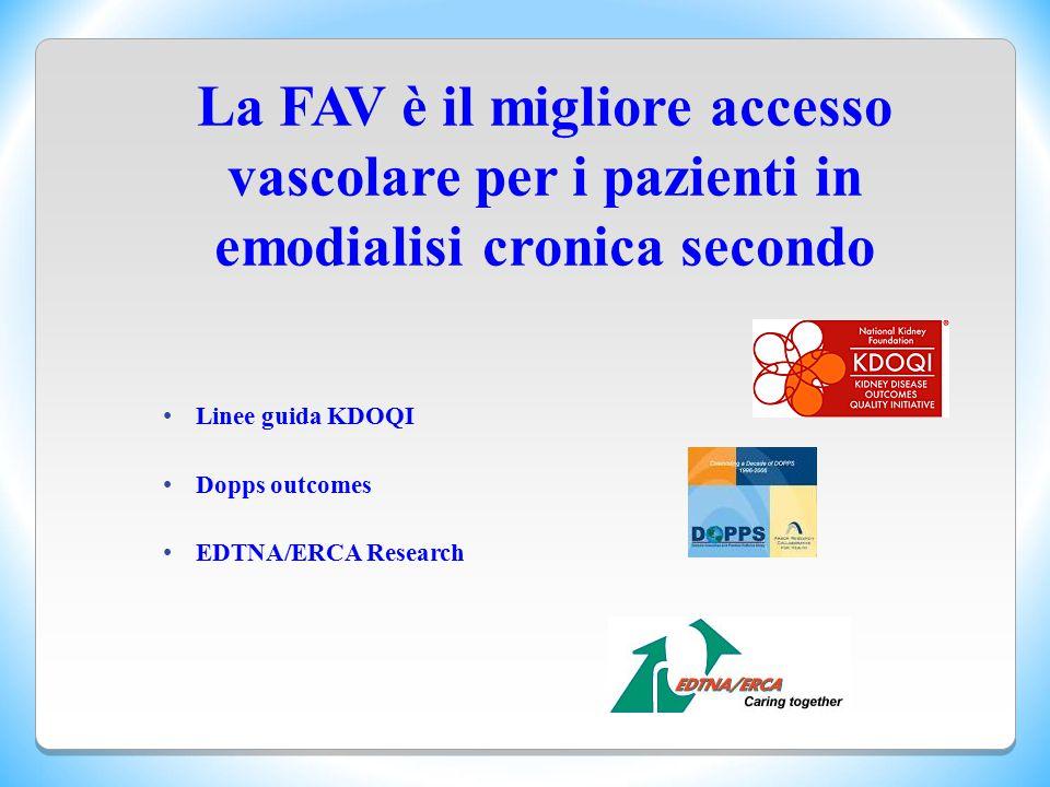 La FAV è il migliore accesso vascolare per i pazienti in emodialisi cronica secondo