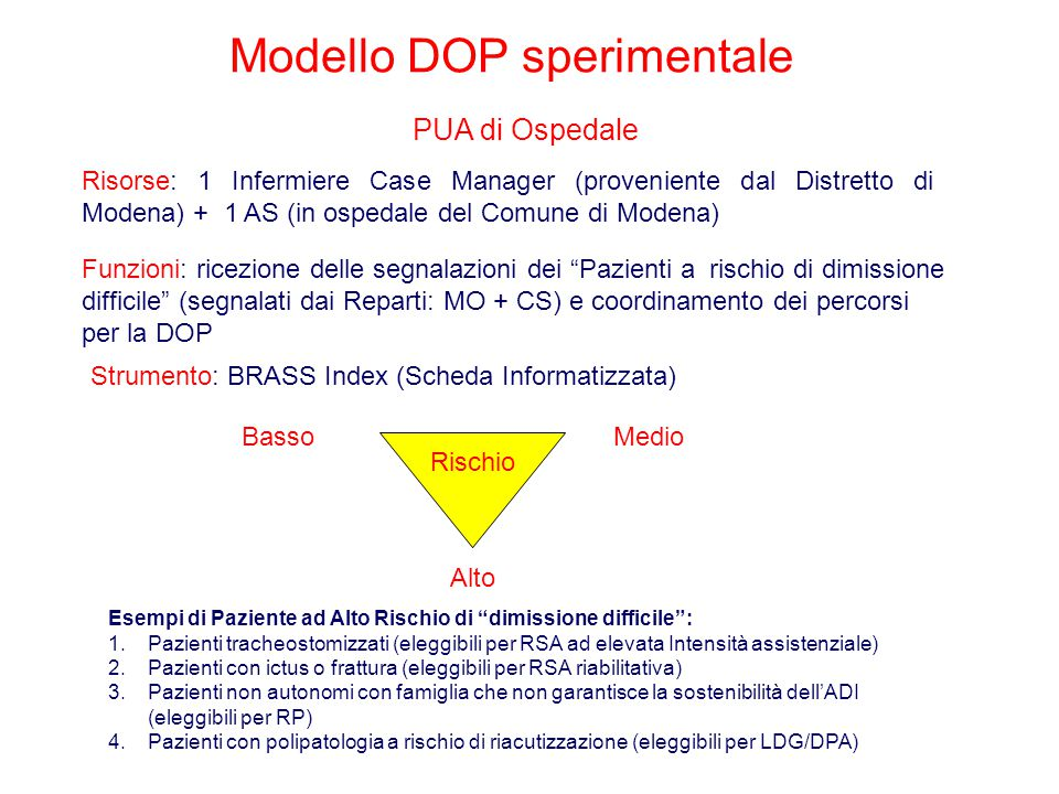 Modello DOP sperimentale