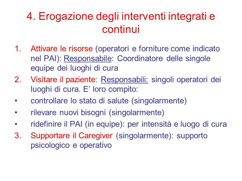 4. Erogazione degli interventi integrati e continui