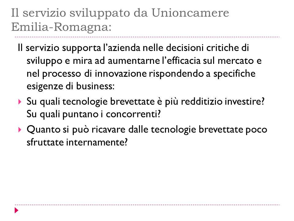 Il servizio sviluppato da Unioncamere Emilia-Romagna: