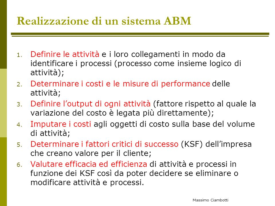 Realizzazione di un sistema ABM
