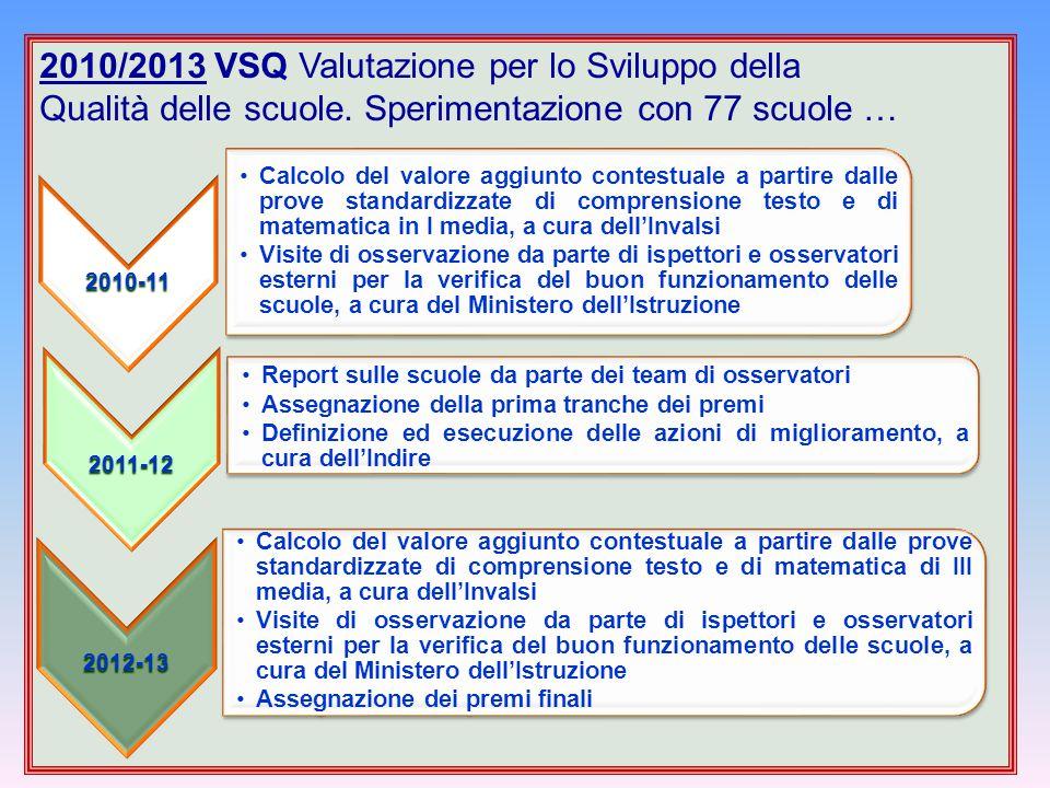 2010/2013 VSQ Valutazione per lo Sviluppo della
