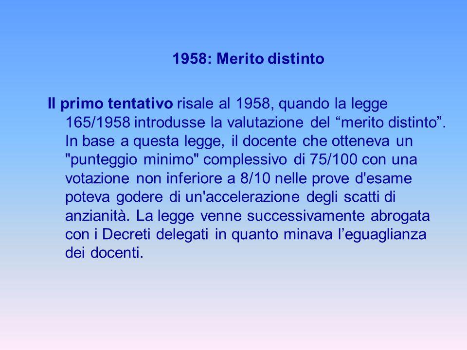 1958: Merito distinto