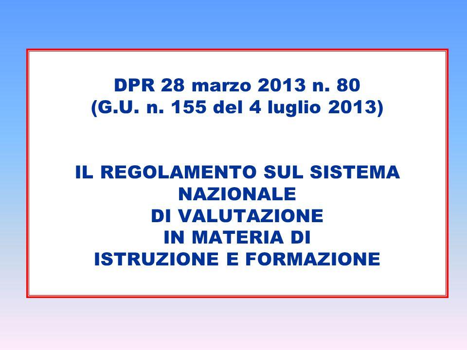 DPR 28 marzo 2013 n. 80 (G.U. n.