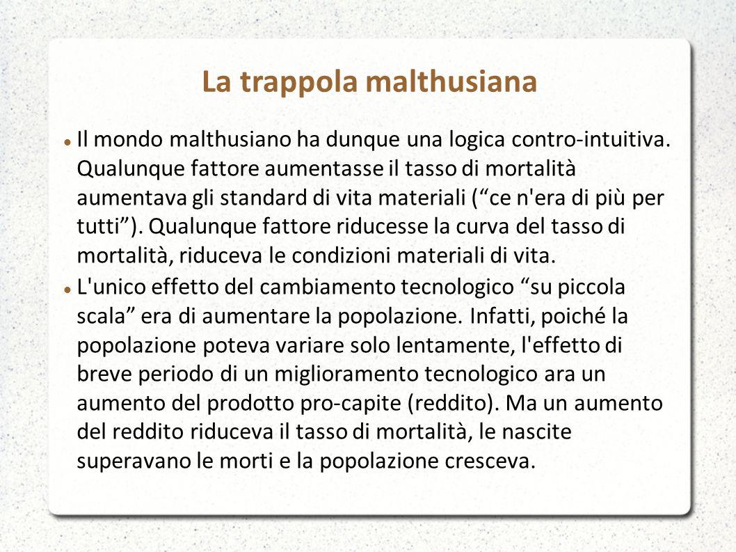 La trappola malthusiana