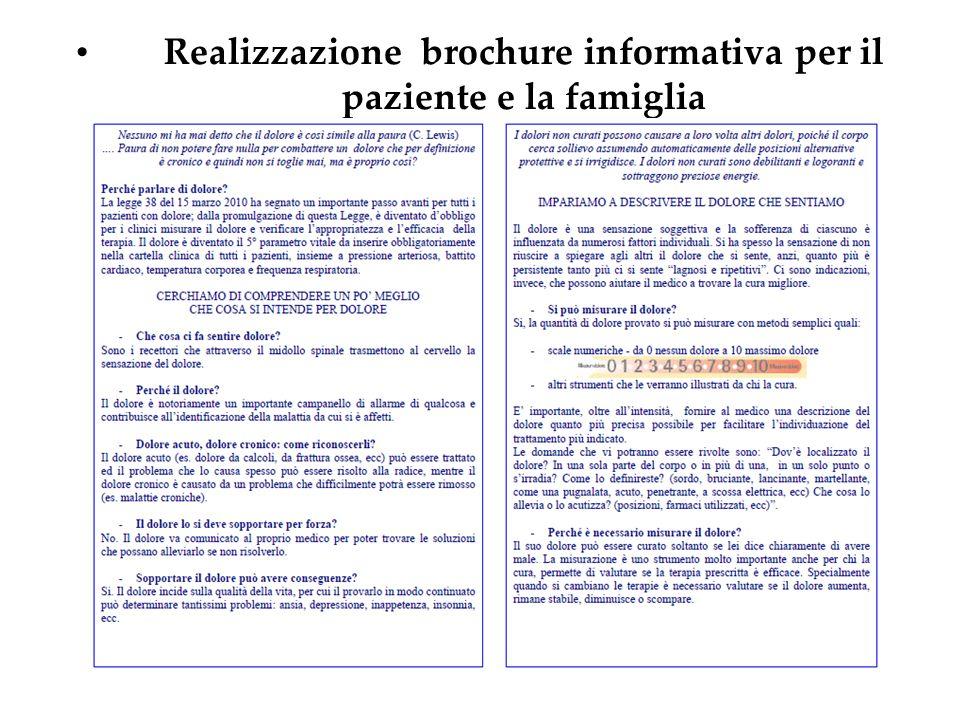 Realizzazione brochure informativa per il paziente e la famiglia
