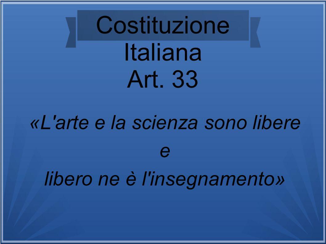Costituzione Italiana Art. 33