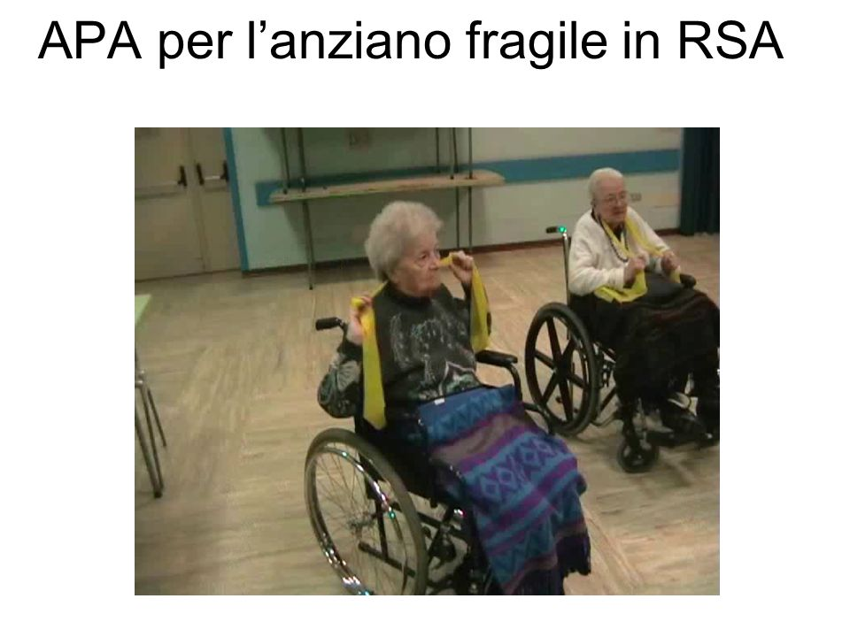 APA per l'anziano fragile in RSA