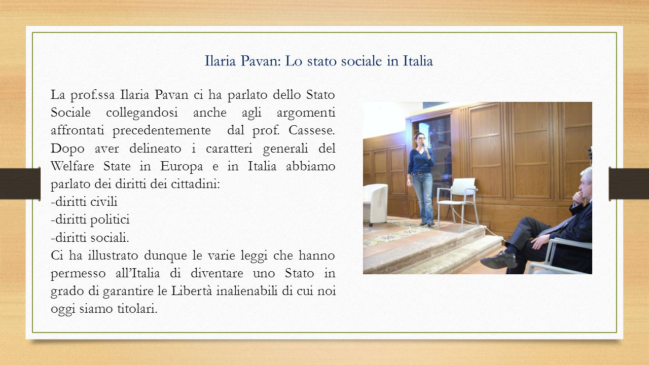 Ilaria Pavan: Lo stato sociale in Italia