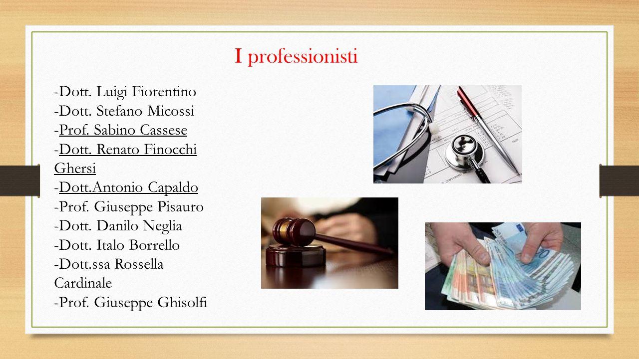 I professionisti -Dott. Luigi Fiorentino -Dott. Stefano Micossi