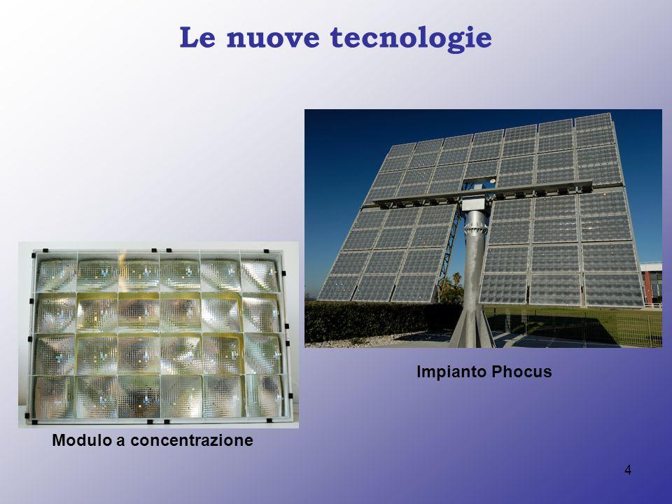 Le nuove tecnologie Impianto Phocus Modulo a concentrazione