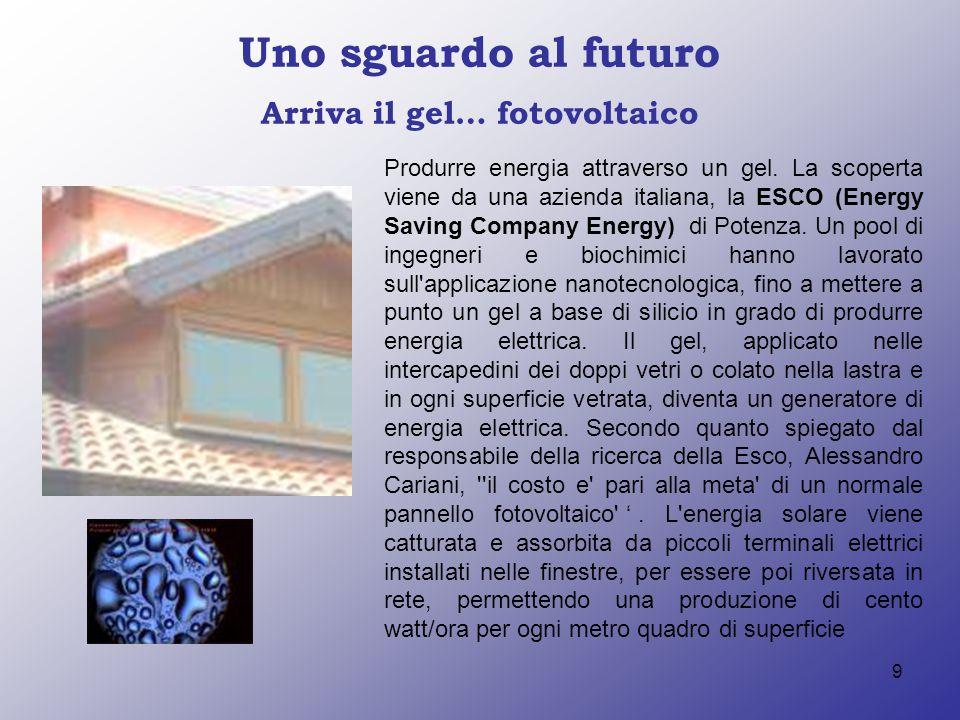 Arriva il gel… fotovoltaico