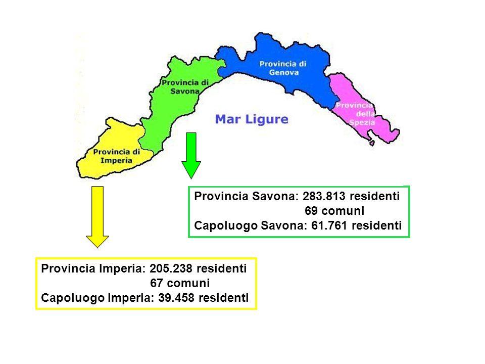 Provincia Savona: 283.813 residenti