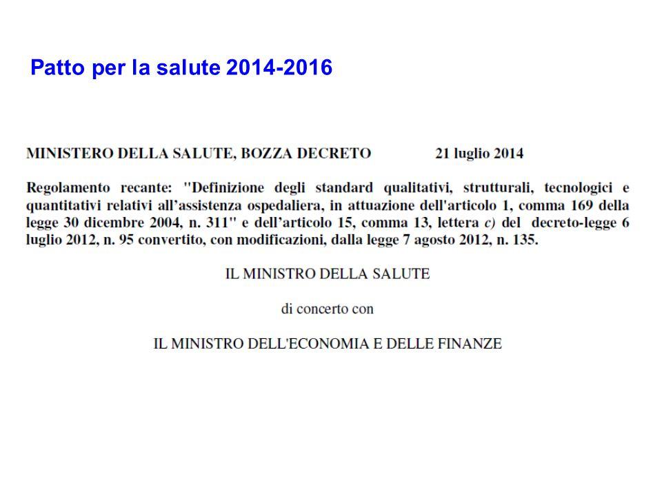Patto per la salute 2014-2016