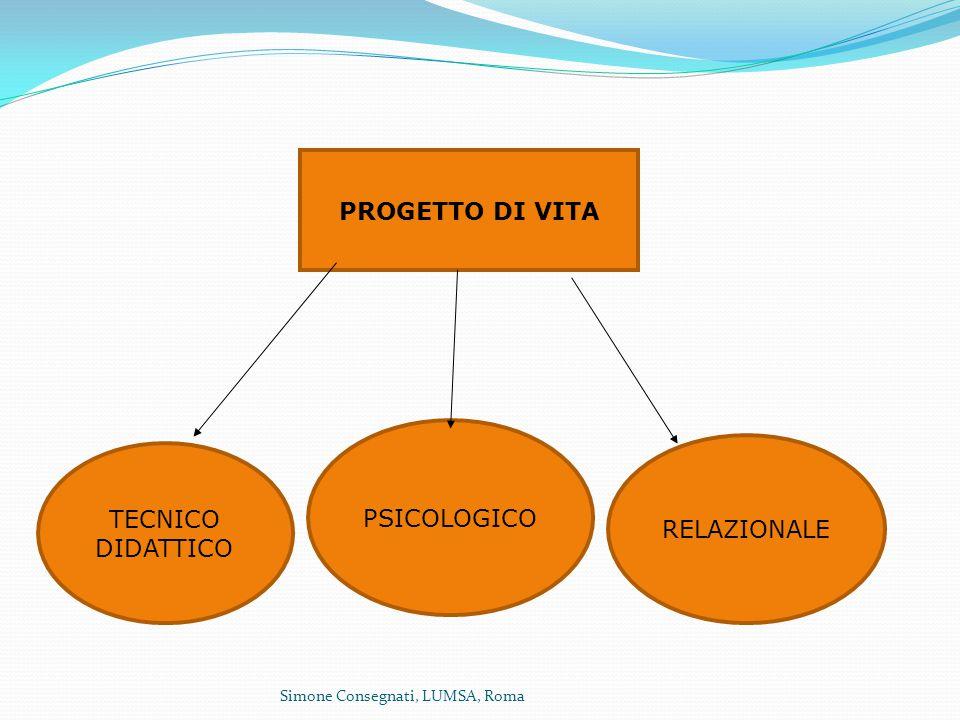 PROGETTO DI VITA PSICOLOGICO TECNICO DIDATTICO RELAZIONALE
