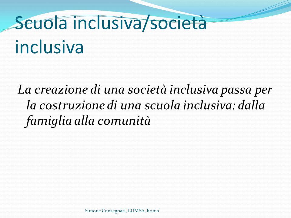 Scuola inclusiva/società inclusiva
