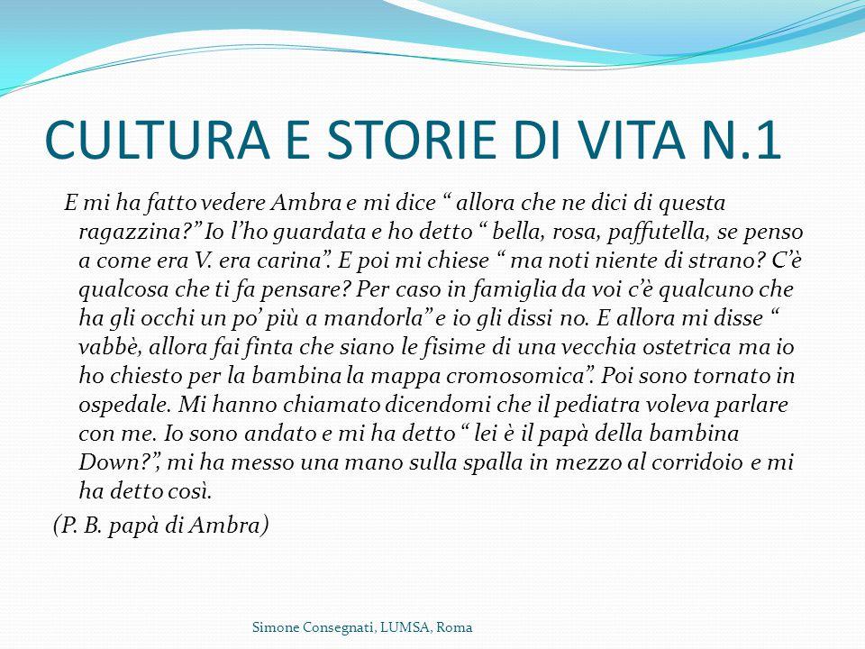 CULTURA E STORIE DI VITA N.1