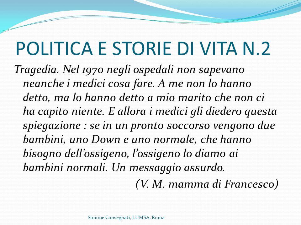 POLITICA E STORIE DI VITA N.2