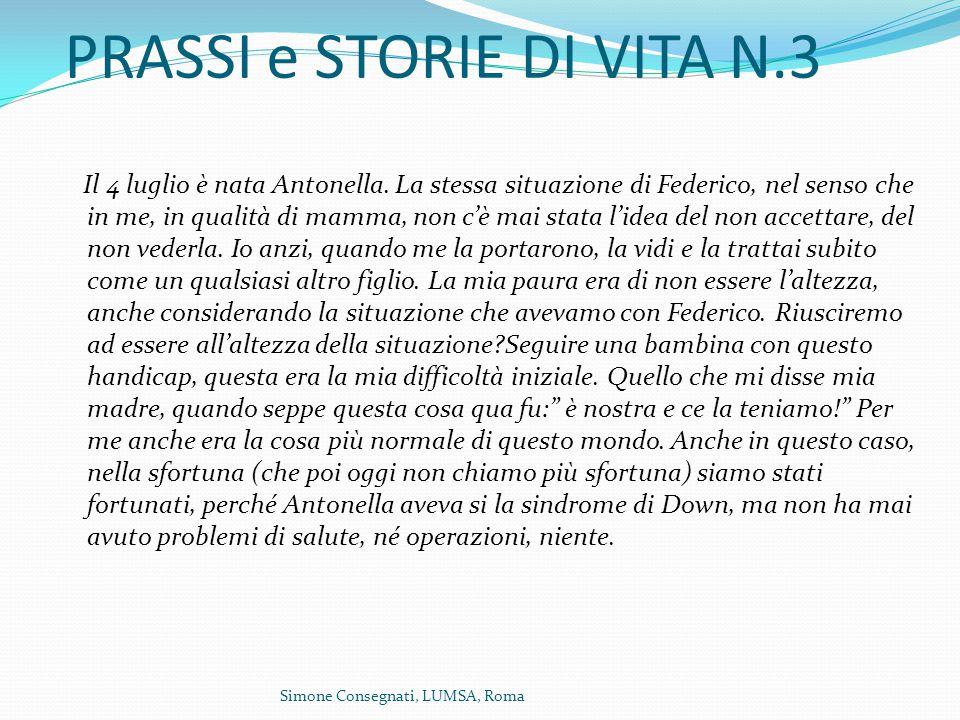 PRASSI e STORIE DI VITA N.3