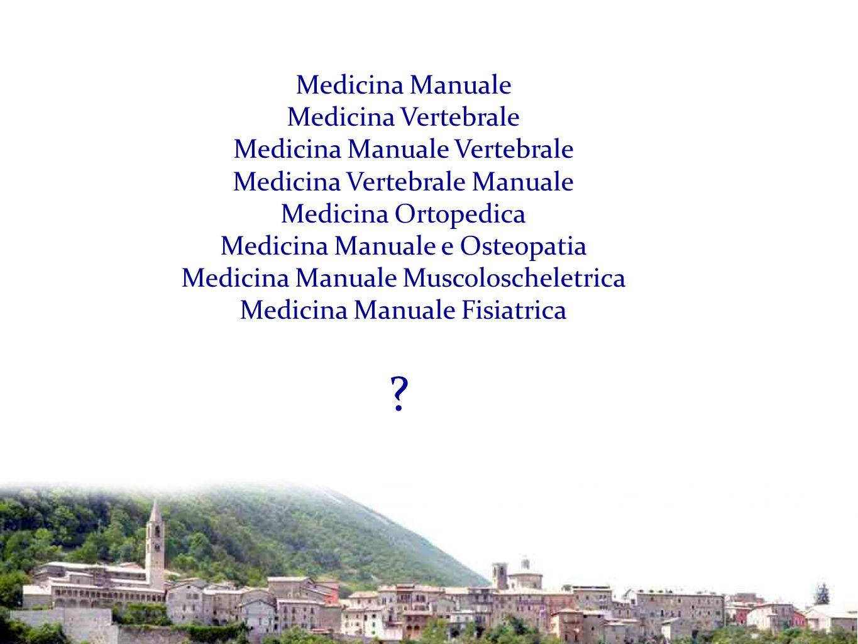 Medicina Manuale Medicina Vertebrale Medicina Manuale Vertebrale