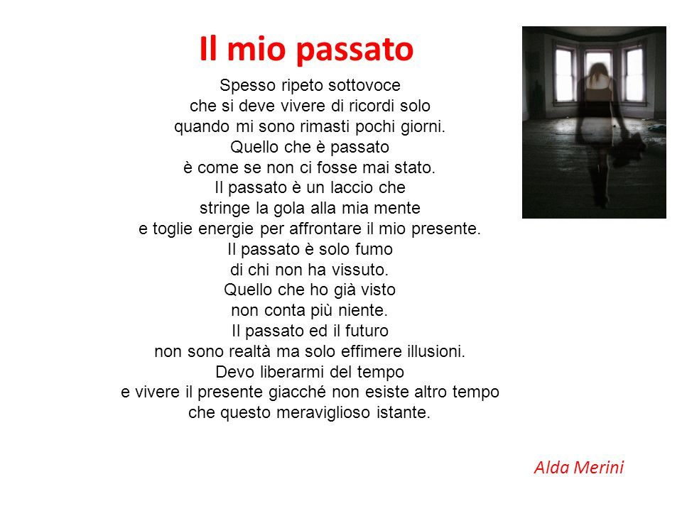 Il mio passato Alda Merini