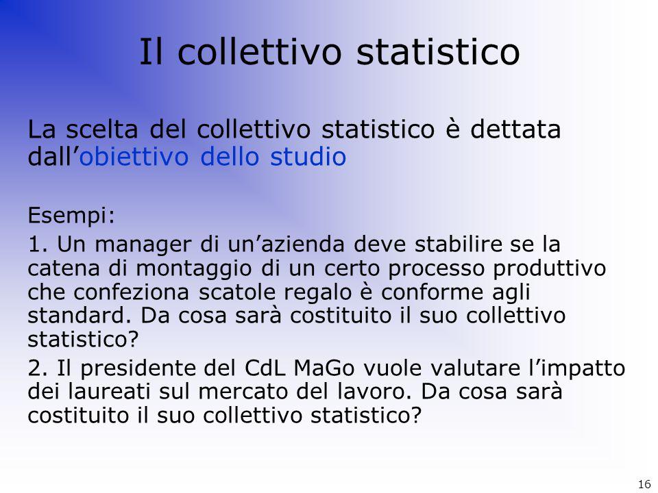 Il collettivo statistico