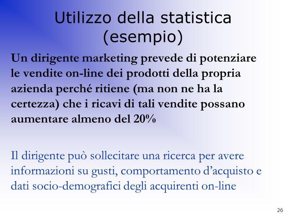 Utilizzo della statistica (esempio)