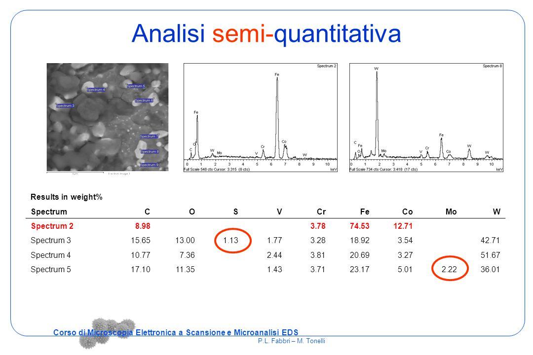 Analisi semi-quantitativa