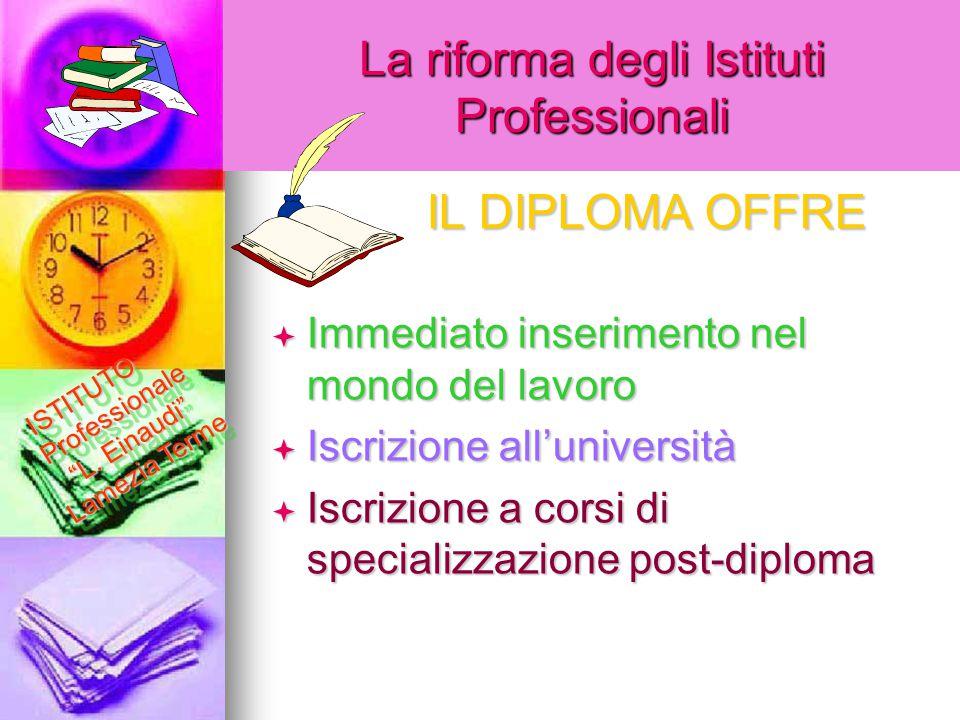 La riforma degli Istituti Professionali