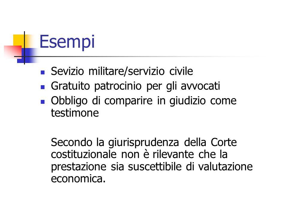 Esempi Sevizio militare/servizio civile
