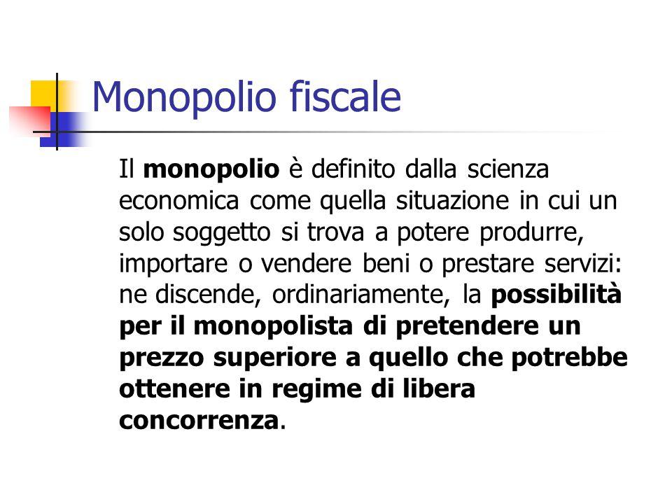 Monopolio fiscale