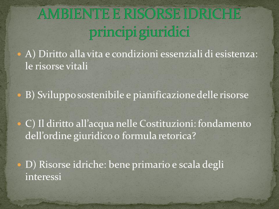 AMBIENTE E RISORSE IDRICHE principi giuridici