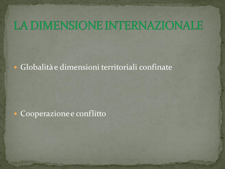 LA DIMENSIONE INTERNAZIONALE
