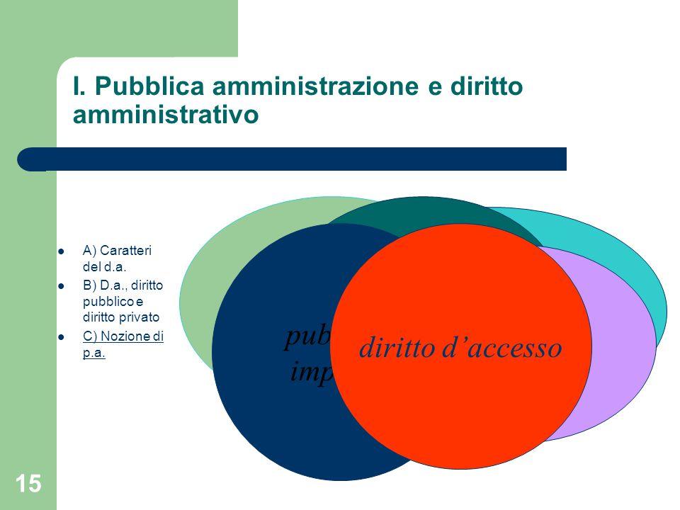 I. Pubblica amministrazione e diritto amministrativo