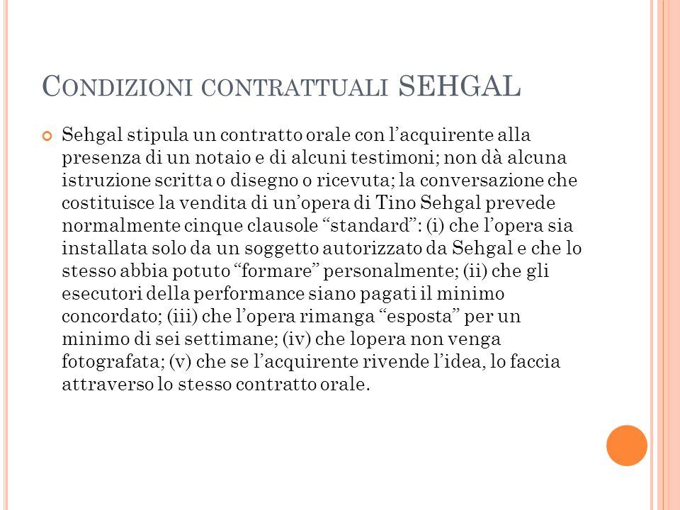 Condizioni contrattuali SEHGAL