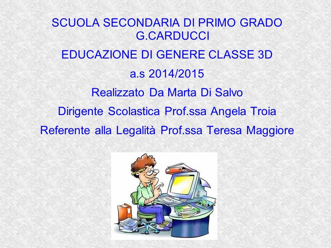 SCUOLA SECONDARIA DI PRIMO GRADO G.CARDUCCI
