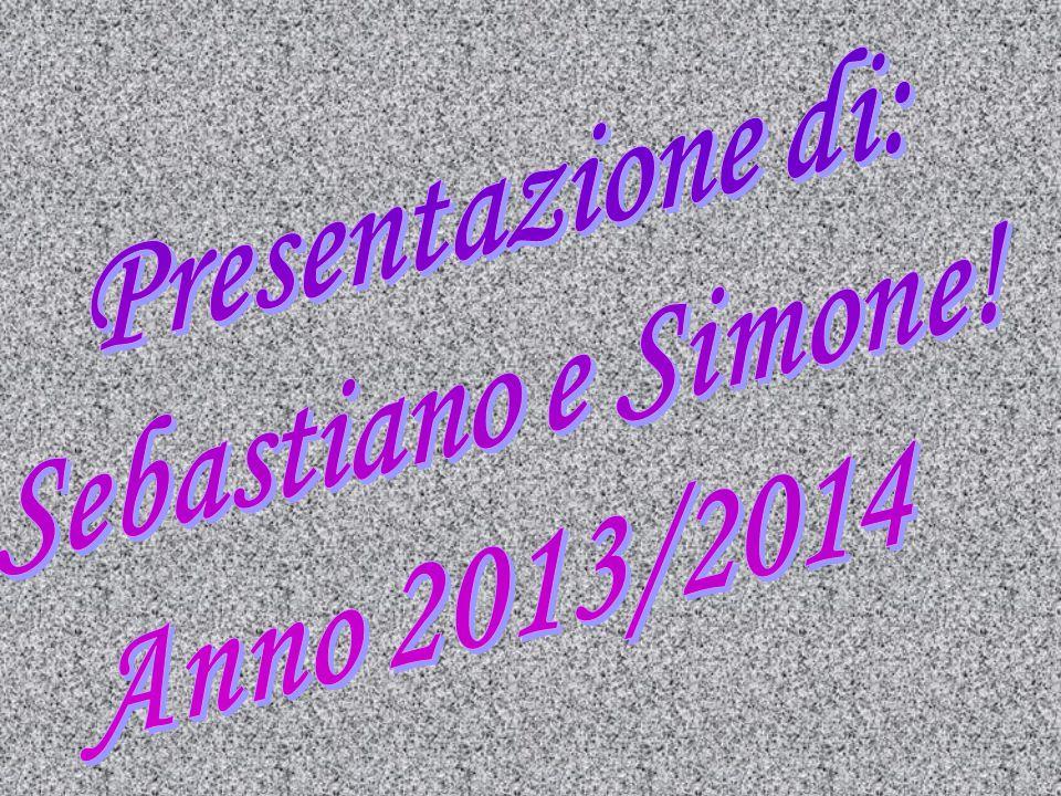 Presentazione di: Sebastiano e Simone! Anno 2013/2014