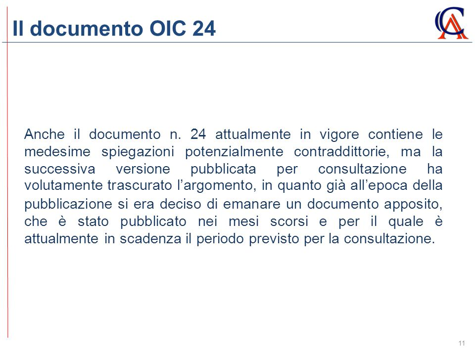 Il documento OIC 24