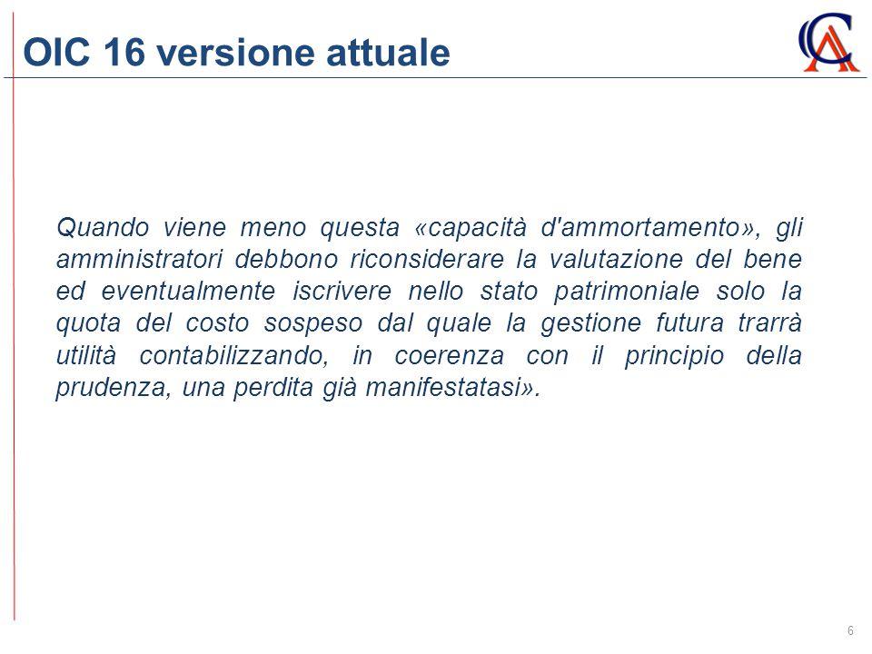 OIC 16 versione attuale