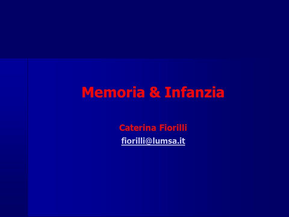 Memoria & Infanzia Caterina Fiorilli fiorilli@lumsa.it