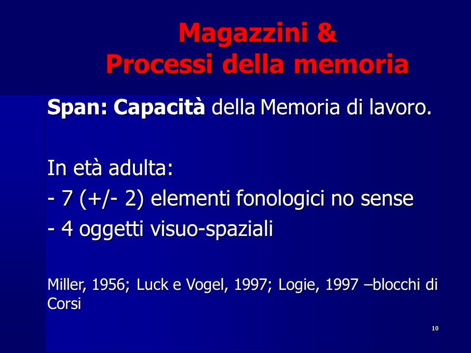 Magazzini & Processi della memoria