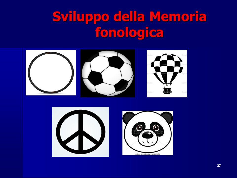 Sviluppo della Memoria fonologica