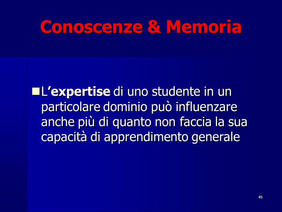 Conoscenze & Memoria