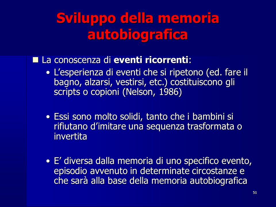 Sviluppo della memoria autobiografica