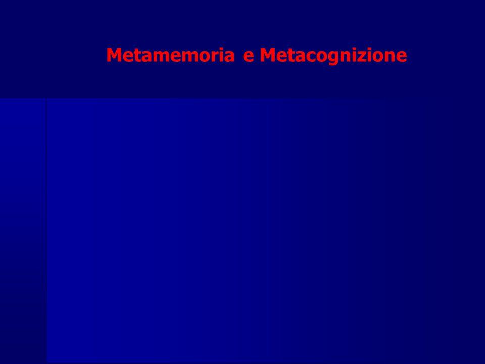 Metamemoria e Metacognizione