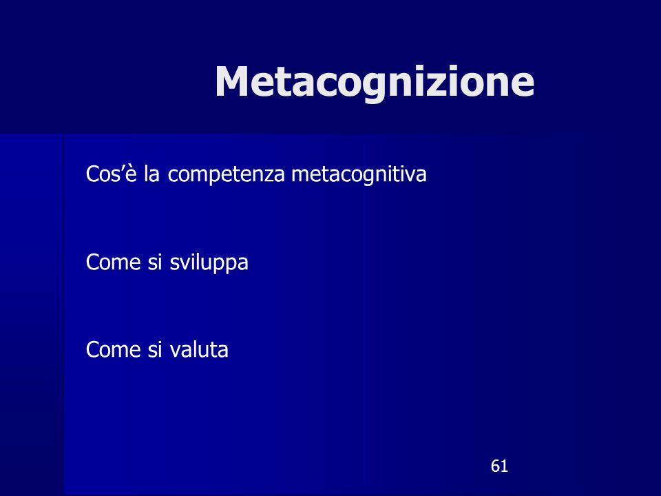 Metacognizione Cos'è la competenza metacognitiva Come si sviluppa