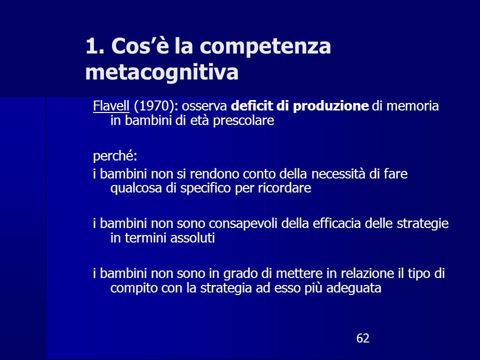 1. Cos'è la competenza metacognitiva