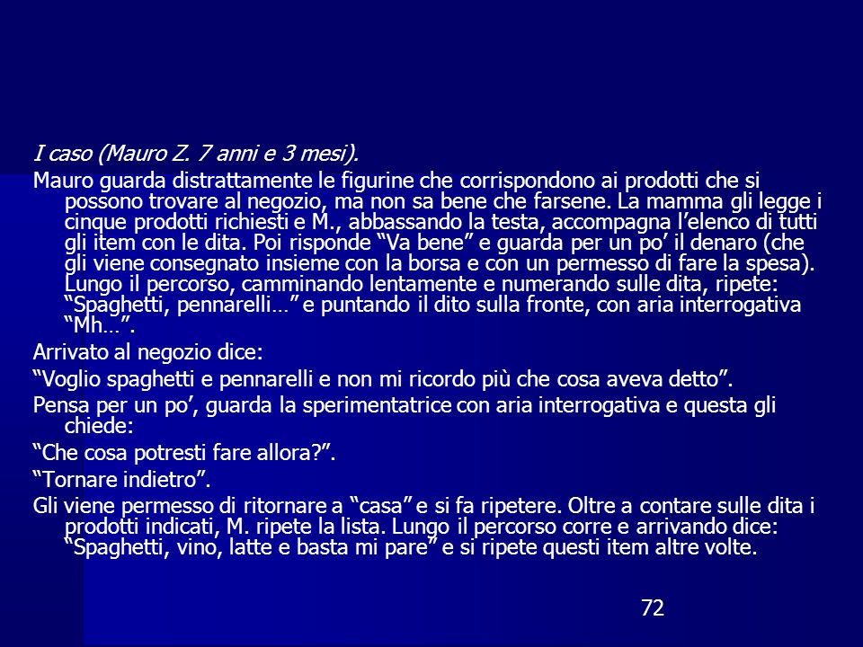 I caso (Mauro Z. 7 anni e 3 mesi).